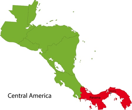 panamanian: Location of Panama on Central America