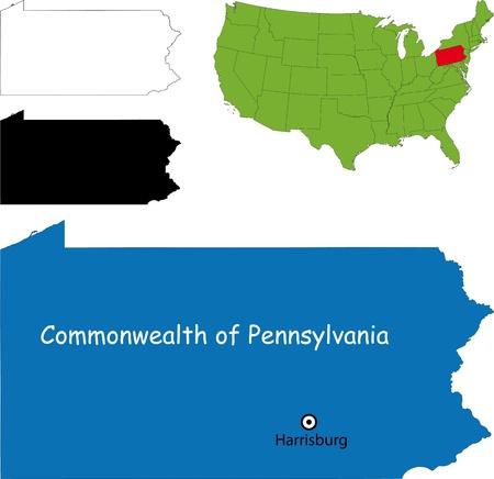 county somerset: Commonwealth of Pennsylvania Illustration