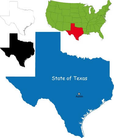 State of Texas, USA Vector