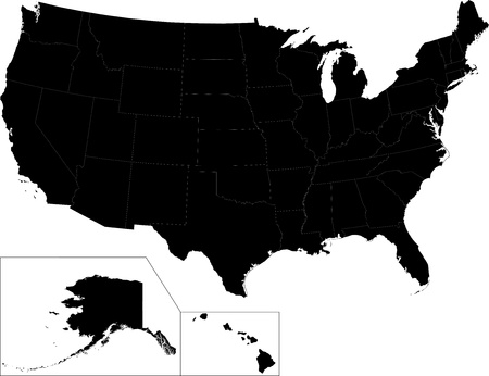 the ocean state: Vector map of the united states of america