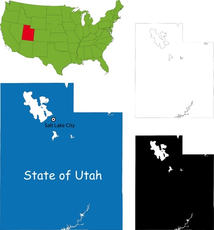 State of Utah, USA Stock Vector - 21758417