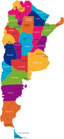 map of argentina: Map of administrative divisions of Argentina
