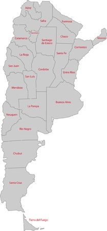 buenos: Map of administrative divisions of Argentina