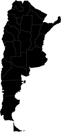 argentina map: Map of administrative divisions of Argentina