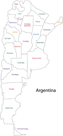 Map Of Administrative Divisions Of Argentina Royalty Free Cliparts - Argentina map black and white