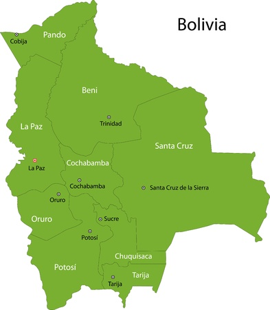 Location Of Bolivia On The South America Continent Royalty Free