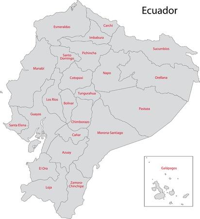 ecuador: Administrative divisions of Ecuador Illustration