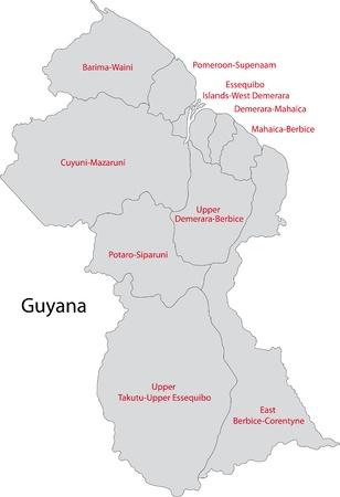 administrative divisions: Administrative divisions of Guyana Illustration