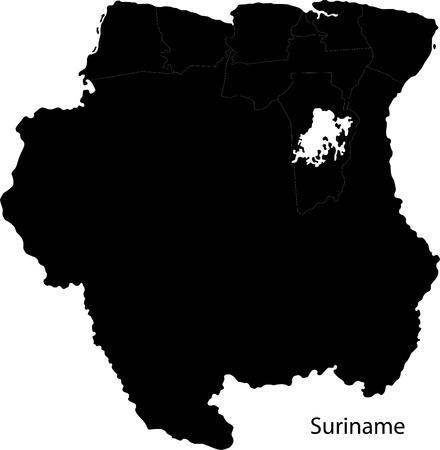 Administrative Divisions Of Suriname Royalty Free Cliparts Vectors
