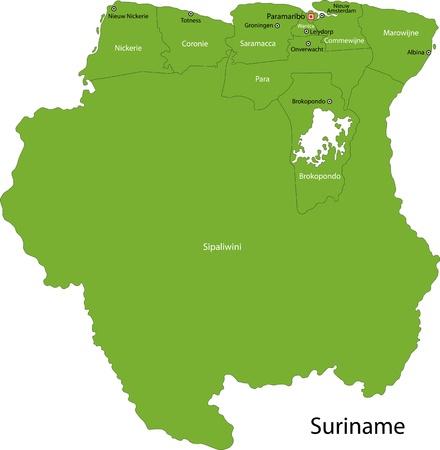 administrative divisions: Administrative divisions of Suriname