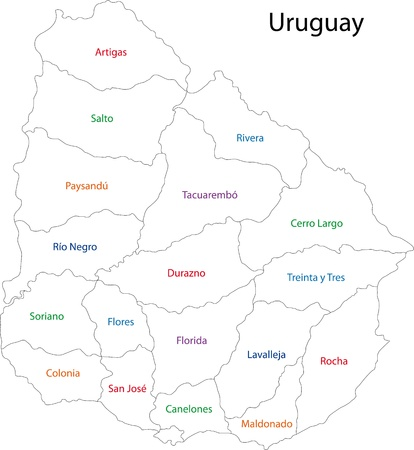 uruguay: Administrative divisions of Uruguay