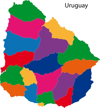 Administrative divisions of Uruguay Vector