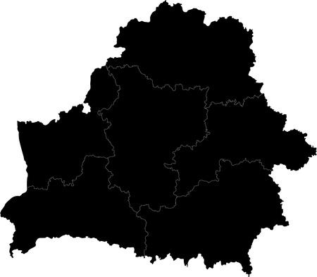 belorussian: Map of administrative divisions of Republic of Belarus