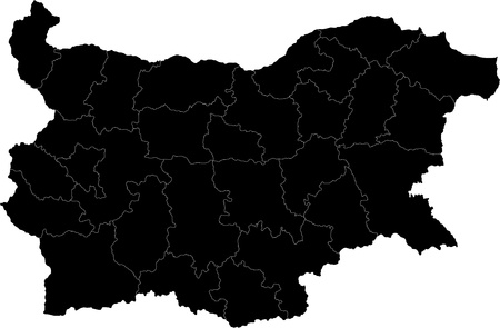 Map of administrative divisions of Bulgaria Illustration