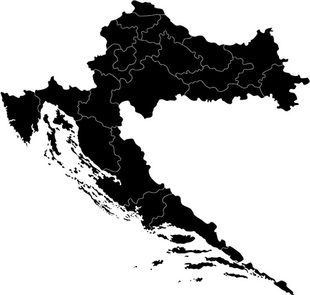 divisions: Map of administrative divisions of Republic of Croatia