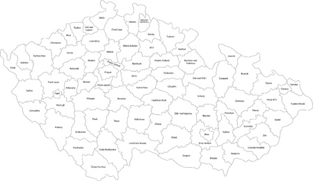 Map of administrative divisions of the Czech Republic