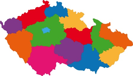 divisions: Map of administrative divisions of Czech Republic