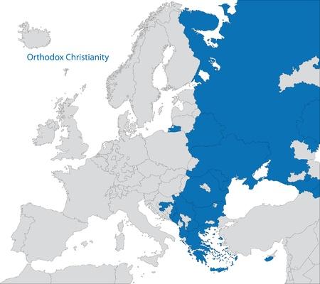clergy: Distribuci�n de la ortodoxia del este de Europa Vectores