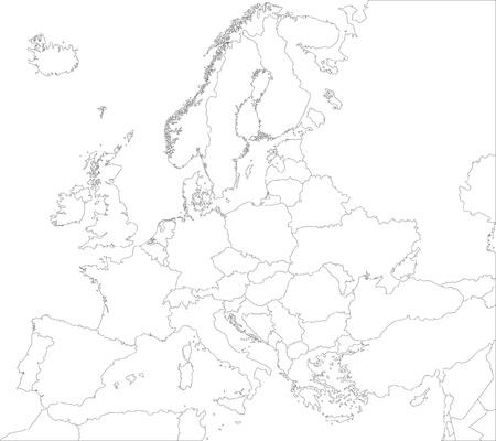 Décrivez carte de l'Europe avec les pays