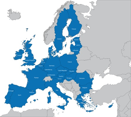 The 27 Member State of the European Union Vector