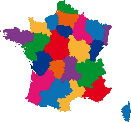 Map of administrative divisions of France Stock Vector - 21813603