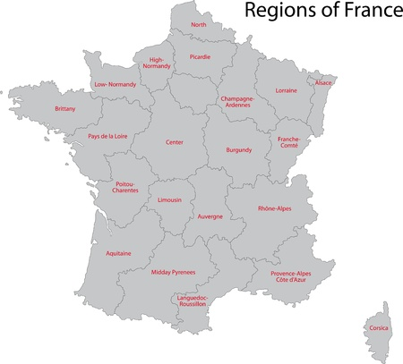 France map with regions Stock Vector - 21813611