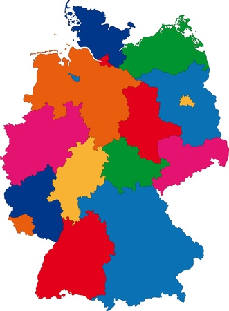 bremen: Map of administrative divisions of Germany Illustration