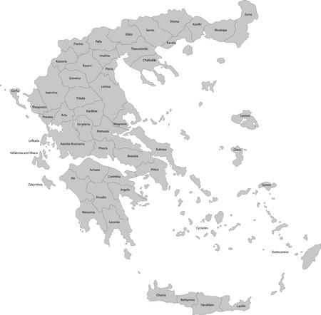 sparta: Karte der Stadtbezirke von Griechenland