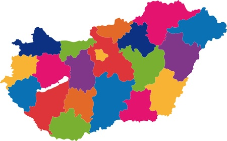 divisions: Map of administrative divisions of Republic of Hungary