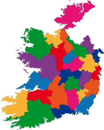 Map of administrative divisions of Republic of Ireland Vector