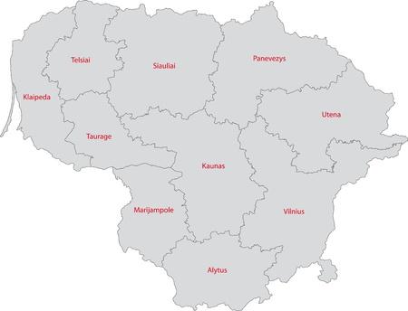 リトアニア共和国の地方行政区画...