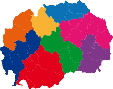 macedonia: Map of administrative divisions of Republic of Macedonia