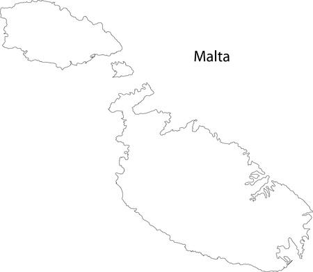 valletta: Map of Malta