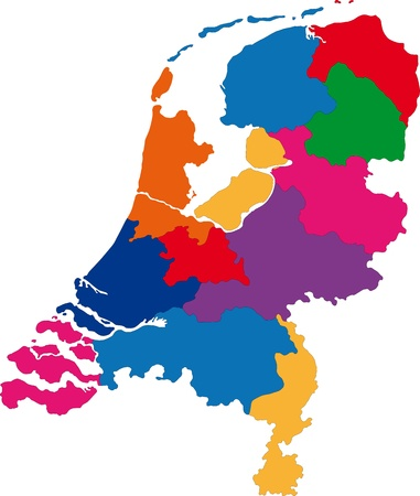 Map of administrative divisions of Netherlands
