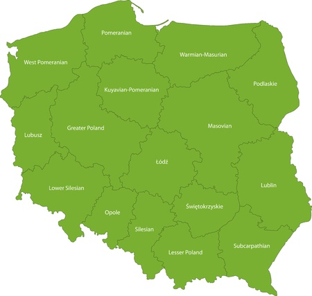 cartographer: Map of administrative divisions of Poland