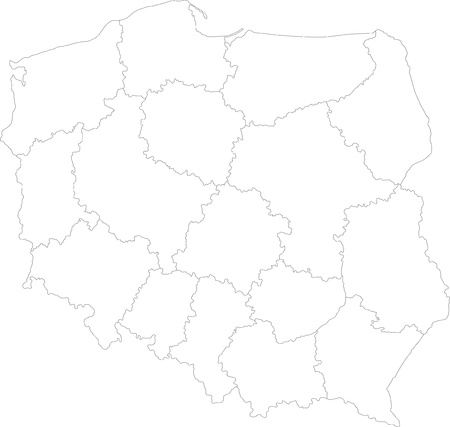 administrative divisions: Map of administrative divisions of Poland