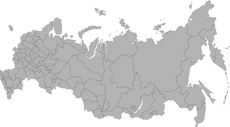 russia map: Vector map of the Russian Federation with federal subjects