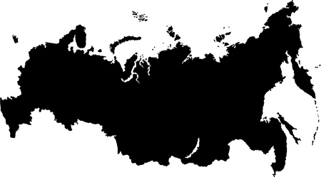 oblast: Vector map of the Russian Federation with federal subjects