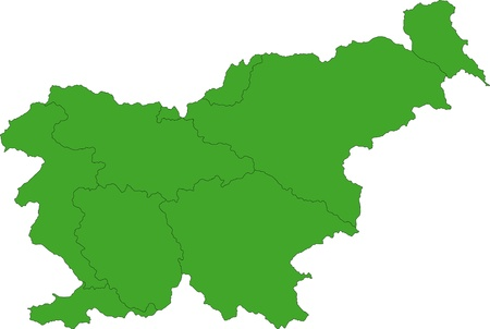 Map of administrative divisions of Slovenia Vector
