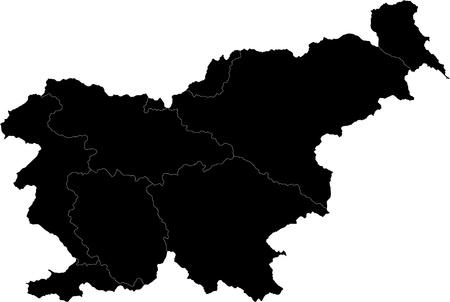 slovenia: Map of administrative divisions of Slovenia