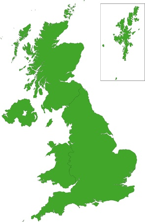 Green map of the United Kingdom Stock Vector - 21813754