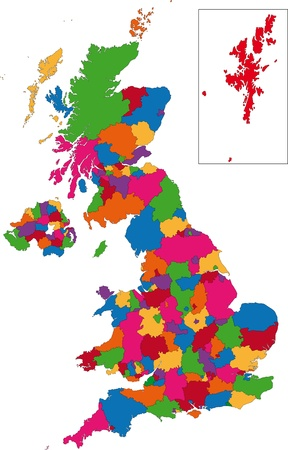 Administrative divisions of the United Kingdom Stock Vector - 21813755