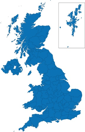 Administrative divisions of the United Kingdom Illustration
