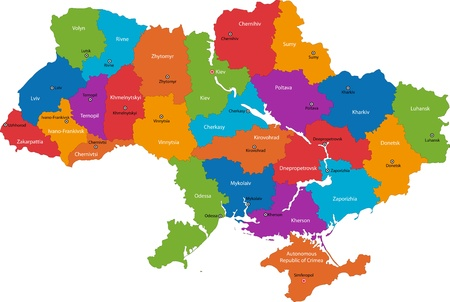 europe eastern: Administrative divisions of Ukraine