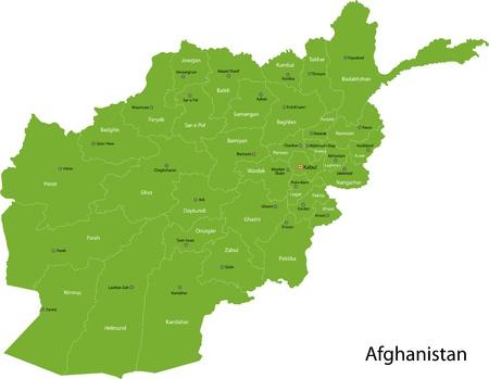 landlocked country: Mapa de las divisiones administrativas de Afganist�n