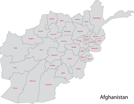 landlocked country: Map of administrative divisions of Afghanistan