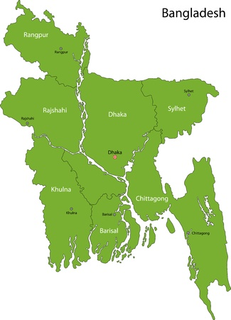 political division: Map of administrative divisions of Bangladesh