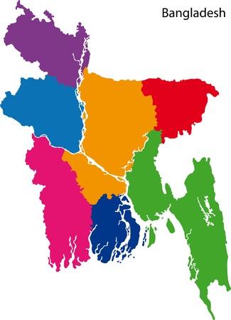 administrative divisions: Map of administrative divisions of Bangladesh