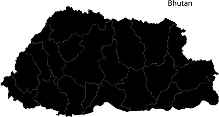 landlocked country: Bhutan map