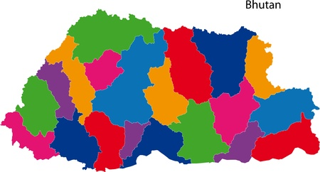 administrative divisions: Map of administrative divisions of Bhutan
